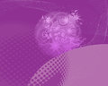 Purple Abstract Floral Backround Royalty Free Stock Photo