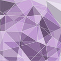 Purple abstract geometric rumpled triangular low poly style vector