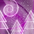 Purple abstract xmas background with falling snow Stock Photo