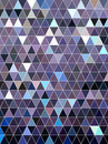 Purple art triangle with white dot pattern