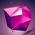 Purple asymmetric 3D abstract technology object