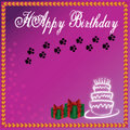 Purple background birthday cake and wedding cake Royalty Free Stock Photography