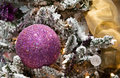 Purple Ball Christmas Tree Ornament Stock Image