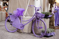 Purple bike Royalty Free Stock Photos