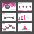 Purple Black presentation template Infographic elements flat design set for brochure flyer leaflet marketing advertising Royalty Free Stock Photo