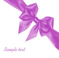 Purple bow Stock Images