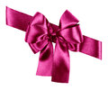 Purple bow made from silk Royalty Free Stock Photo