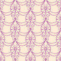 Purple bows elegant seamless pattern with on a beige background Royalty Free Stock Photos