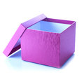 Purple box Royalty Free Stock Photos