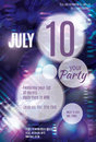 Purple bubble flyer design with glowing elements and room for text Stock Images