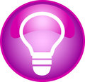 Purple bulb button Royalty Free Stock Photo