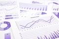 Purpurová obchod grafy grafy dáta a správa