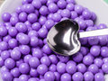 Purple Candy Covered Chocolates Stock Images