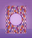 Purple Card In Rhombus Pattern