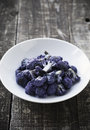 Purple cauliflower white bowl with roasted Royalty Free Stock Photography