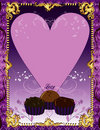 Purple Chocolate Card Royalty Free Stock Images