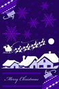 Purple Christmas Card Royalty Free Stock Photos