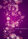 Purple Christmas Lights Stock Image