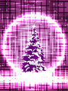 Purple Christmas tree Stock Photos