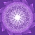 Purple circle mandala in optical art style for spiritual training and meditation Royalty Free Stock Photo