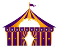 Purple circus tent Royalty Free Stock Photography