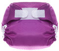 Purple Cloth Diaper with Hook and Loop Closure Stock Photos