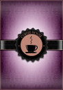 Purple coffee house menu design Stock Image