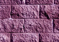 Purple color stylized brick wall pattern.
