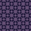Purple colors flower and plant pattern design korean traditional series Royalty Free Stock Photo