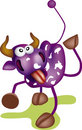 Purple cow Stock Image