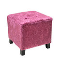 Purple cube Pouffe Stock Image