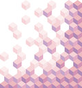 Purple cubes. Geometric background, wallpaper. Hexagonal illustration. 3d. Vector abstract background