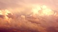 Purple Cumulonimbus Clouds in Sky After Storm Royalty Free Stock Photo