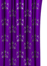 Purple curtain with floral pattern Royalty Free Stock Photos