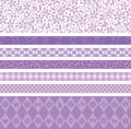 Purple decoration line set of lines Royalty Free Stock Images