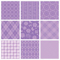 Purple decorative pattern set of backgrounds Stock Photography