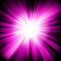 Purple design with a burst. EPS 8 Stock Photography