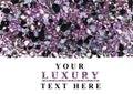 Purple diamond jewel stones luxury background Royalty Free Stock Photo
