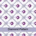 Purple Diamond Pattern Vector Royalty Free Stock Photo
