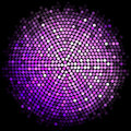 Purple disco lights background vector Royalty Free Stock Images