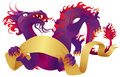 Purple Dragon Stock Photo