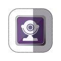 Purpurová symbol počítač ikona