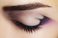 Purple Eye Makeup Royalty Free Stock Image