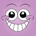 Purple face happy on background Royalty Free Stock Photography