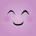 Purple face happy expression on background Stock Image