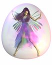 Purple Fairy in a Bubble Stock Images