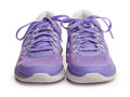 Purple female sport shoes Royalty Free Stock Photo
