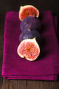 Purple figs Stock Photo