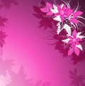 Purple floral background with flowers Stock Image