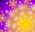 Purple Floral Kaleidoscope Royalty Free Stock Photography